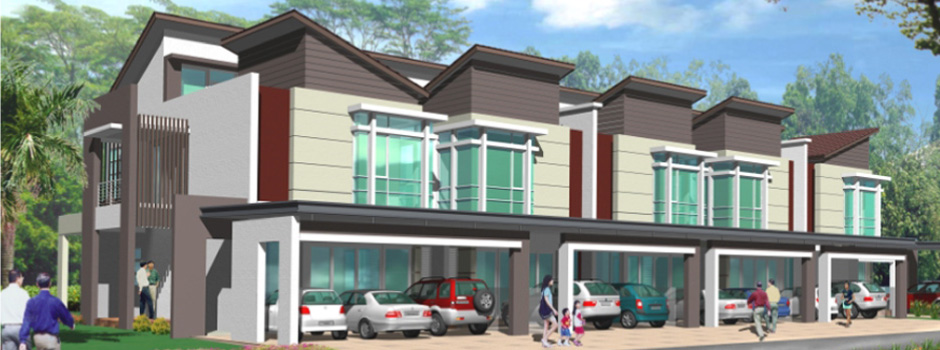 Serene Luak Double Storey Semi Detached Houses Double Storey
